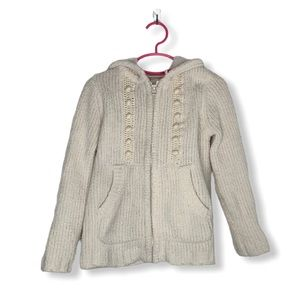 Hannah Andersson Girls White Soft Knit Sweater 5